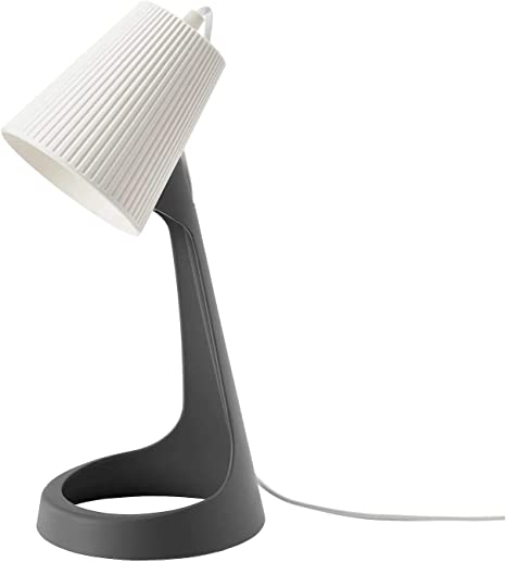 Ikea Svallet Lampada Da Lavoro Scrivania Grigio Scuro Bianco Etichetta Energetica A Amazon It Illuminazione