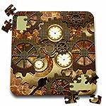 Heike Köhnen Design Steampunk - Steampunk clocks gears in golden design - 10x10 Inch Puzzle (pzl_239732_2) 5