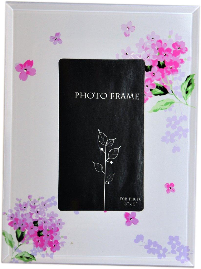 Amazon.de: Memorie Bilderrahmen, Glas, Blumen-Motiv, 4 x 6 cm, Pink