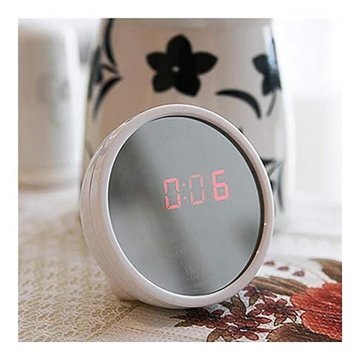 8°KL Despertador Reloj Despertador Digital LED Espejo Termómetro ...