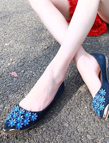 red us8 comodidad talón mujer Flats de uk6 de zapatos negro eu39 cerrado señaló Toe plano Casual 5 PDX azul 5 cn40 Toe rojo InqaTYww