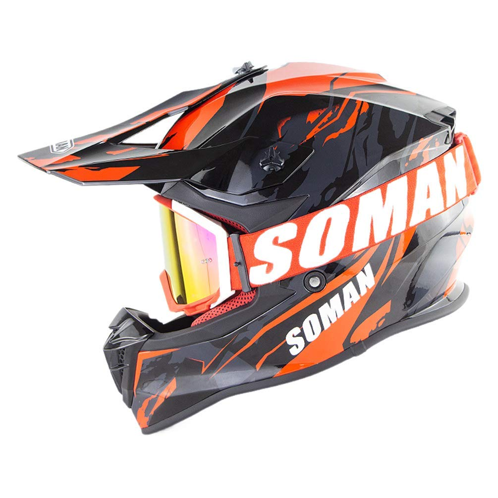 SK-LBB Downhill Helme Enduro Helme ECE Motocross Helme Motorradhelm Cross Helme Schutzhelm Motocross Helm F/ür Motorrad Crossbike Off Road Enduro Sport A04,S