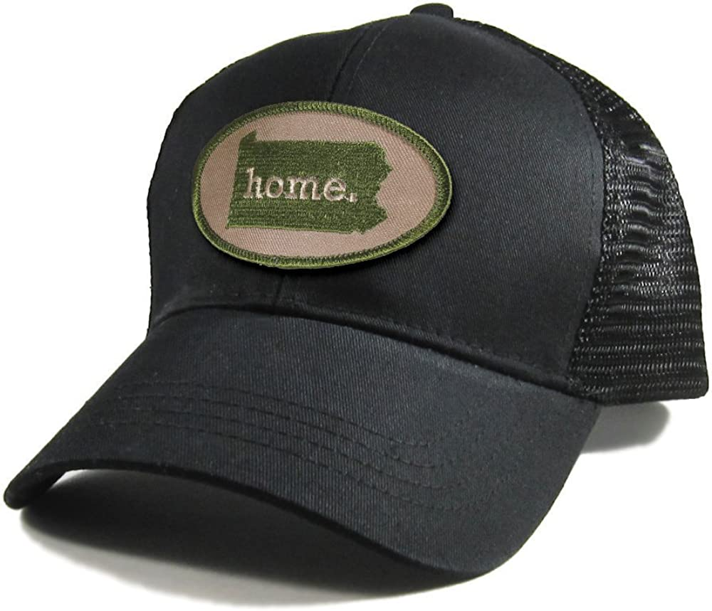 Homeland Tees Mens Pennsylvania Home Patch All Black Trucker Hat