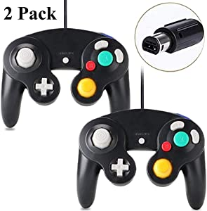 Gamecube Controller – FIOTOK Wired Controllers Classic Gamepad for Nintendo Game Cube & Wii Console Game Remote 2 Pack Black