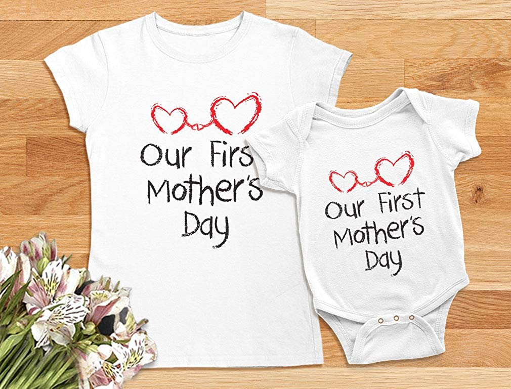 Mother/'s Day Outfit,Baby Girl Mother/'s Day  Set,Mother/'s Day Mommy/'s Bestie Girl/'s Mother/'s Day Outfit Mother/'s Day  Set