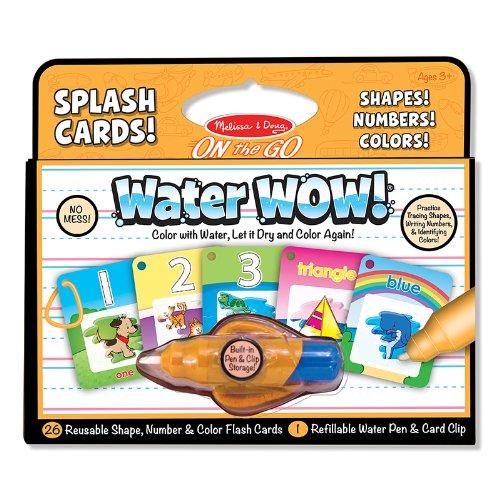 MELISSA & DOUG WATER WOW SPLASH CARDS SHAPES (Set of 12)