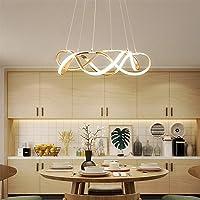 Chandelier Pendant Light LED Modern for Dining Room Living Room Bedroom, Aluminum and Acrylic Hanging Light Island…