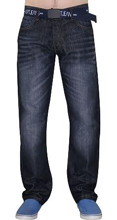 Men Free Belt Jeans Regular Fit Polycotton Rico Denim Trouser Pants APT Brand