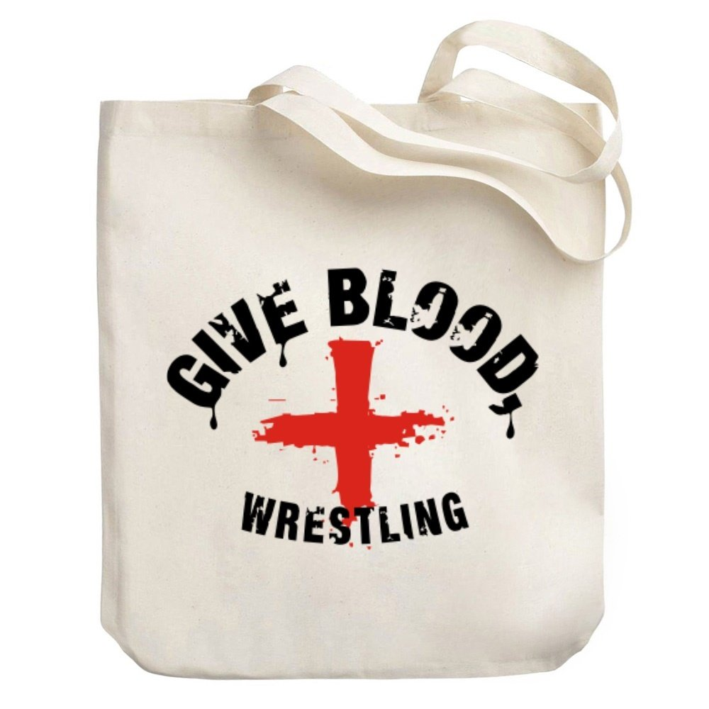 Teeburon Give blood, Wrestling Canvas Tote Bag