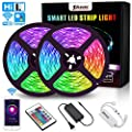 SOLMORE LED Strip Lights WiFi 10M 32.8Ft RGB 5050 LEDs Color Changing Kit Wireless Smart Phone Rope Lights 24Key IR Remote Works with Android iOS System Alexa IFTTT and Google Assistant