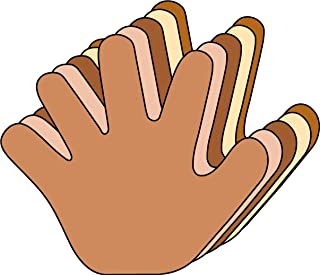 """product image for 3"""" Hand Multicultural Creative Cut-Outs, 31 Cut-Outs in a Pack for Kids' Craft, Unity, Handprint Wreath, Turkey Handprint for School Craft Projects."""