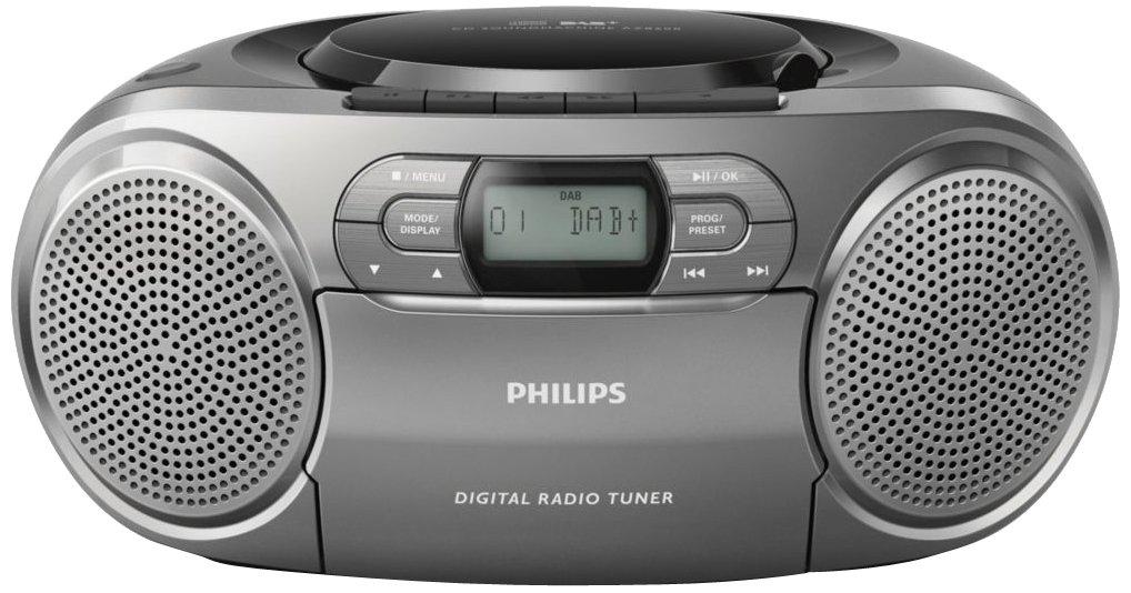 Philips AZB600 - Radio cassette (FM, CD, CD-R, CD-RW,2W), gris (importado): Amazon.es: Electrónica
