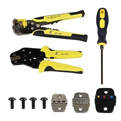 Fontic Set de alicates pelacables profesionales multifunción: Alicates pelacables + Decapante de cables + Destornillador