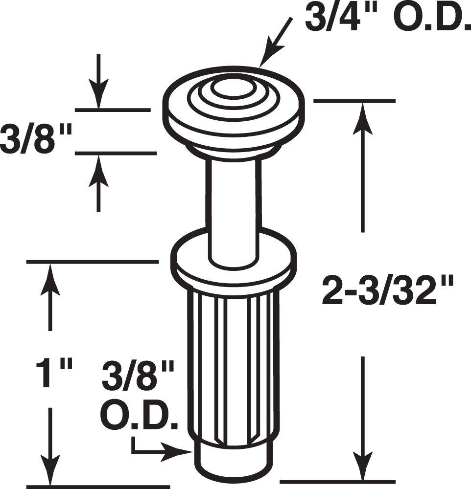 Pack of 2 Prime-Line Products N 6704 Bi-Fold Door Top Guide Wheel Nylon,