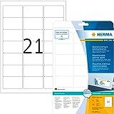 Herma 5074 Étiquettes d'adresse movables/amovibles 63,5 x 38,1 A4 Blanc