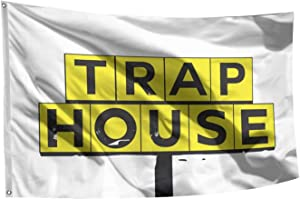 AUMIAU Trap House Flag Banner 3x5Ft College Dorm Room Man Cave Frat Wall Outdoor Flag