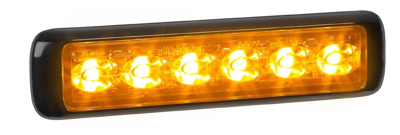 Federal Signal MPS620U-WA MicroPulse Ultra White//Amber Dual Class 1 12-LED Warning Light