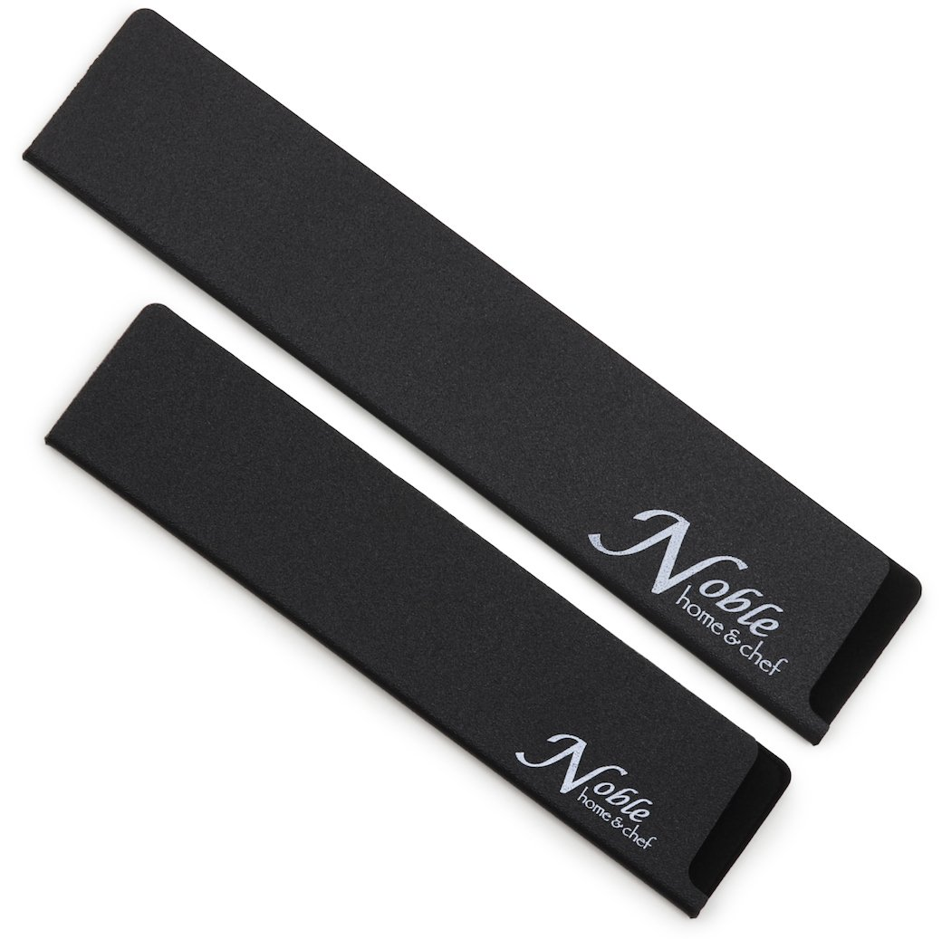 """2-Piece Universal Knife Edge Guards (8.5"""" and 10.5"""") are More Durable, BPA-Free, Gentle on Your Blades, and Long-Lasting. Noble Home & Chef Knife Covers Are Non-Toxic and Abrasion Resistant!"""