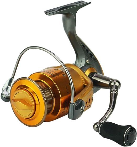 Carretes Spinning Spinning Fishing Reel 13 + 1 Rodamientos Izquierda Derecha Manija intercambiable Relación de artes de pesca 5.2: 1 Con doble sistema de frenos de arrastre Carrete para agua salada o: Amazon.es: Hogar