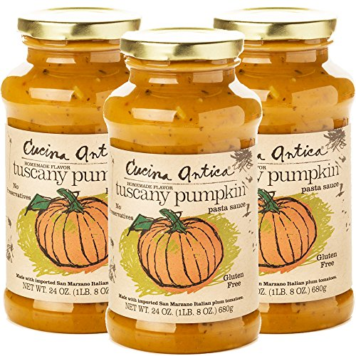Cucina Antica - Tuscany Pumpkin Pasta Sauce - 24oz (Pack of 3) - Non GMO, Whole 30 Approved, Gluten Free