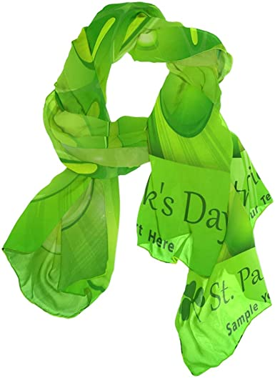 Use4 Yellow Lemon Green Leaf Chiffon Silk Long Scarf Shawl Wrap