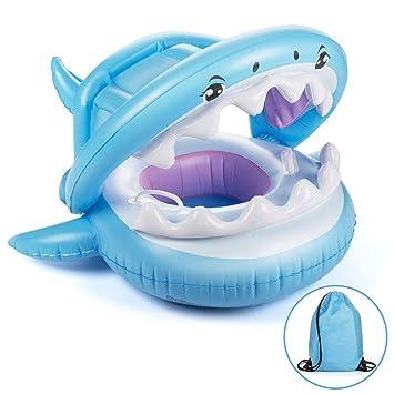 BuBu-Fu Piscina para Bebés Flotador para Nadar Flotador con Toldo ...