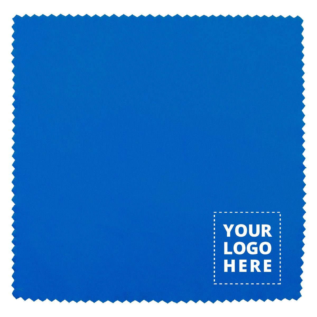 100% Microfiber Cleaning Cloth & Screen Cleaner - 250 Qty - Promotional Product Blue by Promo Direct