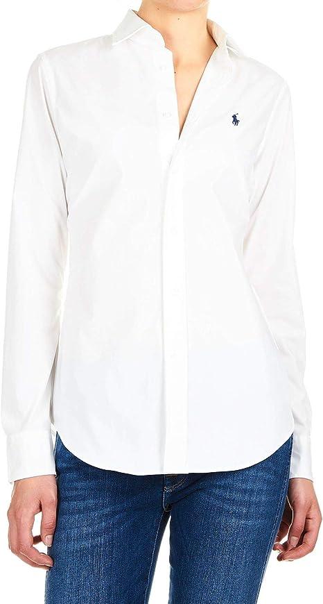 Ralph Lauren Luxury Fashion Mujer 211537103011 Blanco Camisa | Temporada Permanente: Amazon.es: Ropa y accesorios