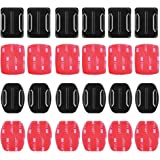 Sticky Helmet Mounts Adhesive for GoPro Tape Kit by HOLACA, 6pcs Flat +6pcs Curved 3M Adhesive Mounts Accessories for…