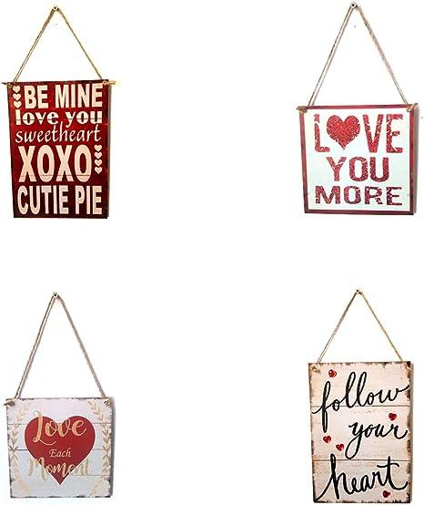 Lorjoyx Amour Signes Bois Plaque rectangulaire Place Lettres Tenture Conseil Salle /à Manger Hall dentr/ée D/écoration