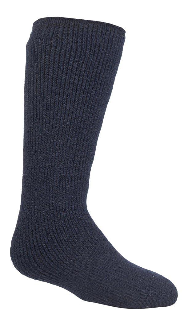 Childrens Heat Holders Thermal Socks - Boys Girls Navy Blue 2-5 uk, 34-39 eur