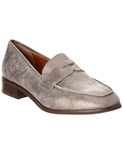 e32eabeb71c Image Unavailable. Image not available for. Color  Aquatalia Sharon  Waterproof Metallic Suede Loafer ...