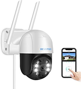 Security Camera Outdoor,Besdertech 1080P WiFi Home Security Camera System Pan Tilt Dome Surveillance Cameras with Waterproof, Night Vision, Motion Detection, 2-Way Audio Cameras for Home Security