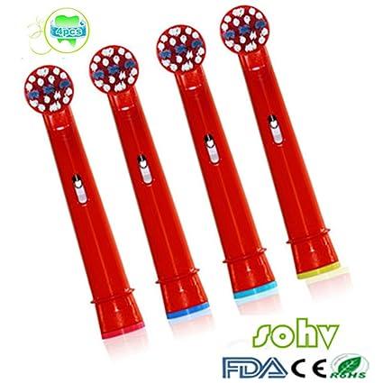 SOHV® estándar recambios cabezales para cepillos de dientes eléctricos para niños para para Braun Oral