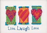 Dimensions Needlecrafts Punch Needle, Live, Laugh, Love