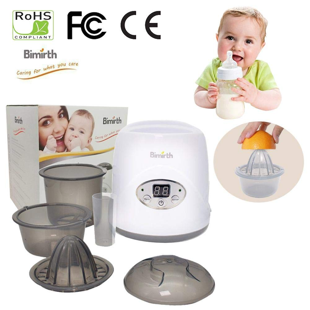 New-look Warm Milk Sterilizer Bottle Warmer for Breastmilk Bottle Sterilizer Baby Food Warmer LCD Touchscreen Baby Bottle Steam Sterilizer - Portable Bottle Warmer On The Go Milk Warmer Heater
