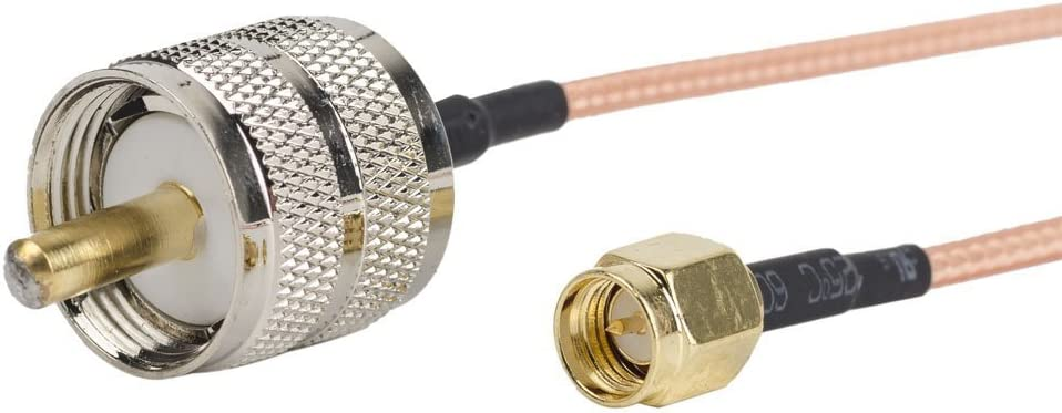 2PCS SMA Male to UHF PL-259 Male Cable Connector 12inch//30cm//1ft RF Coaxial Coax Cable Assembly TM Eagles