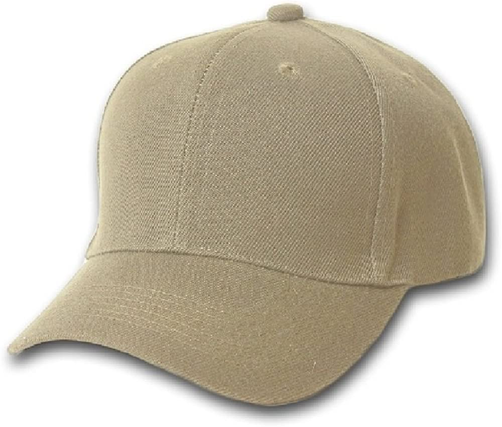 Pack of 5 PriceMeNow Plain Cotton Unisex Baseball Cap Adjustable Blank Hat with Solid Color