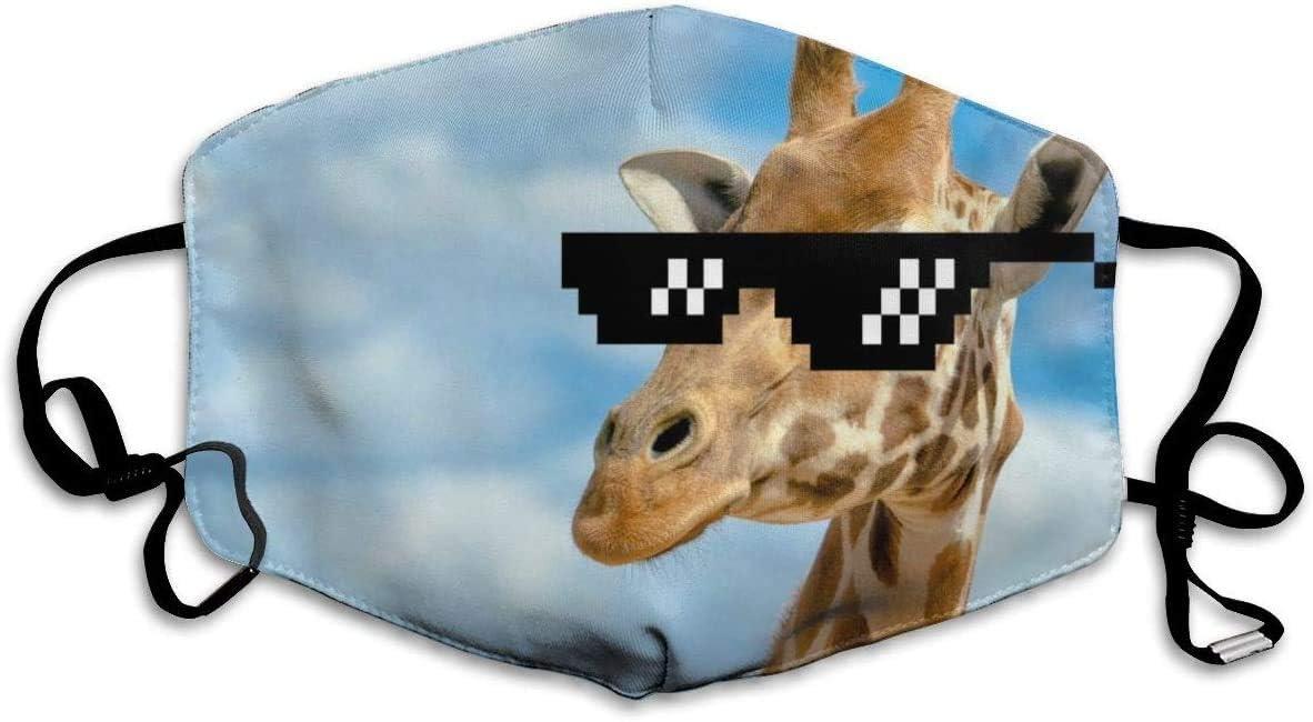 """Maske mit """"Giraffe-mit-Sonnenbrille""""-Motiv"""