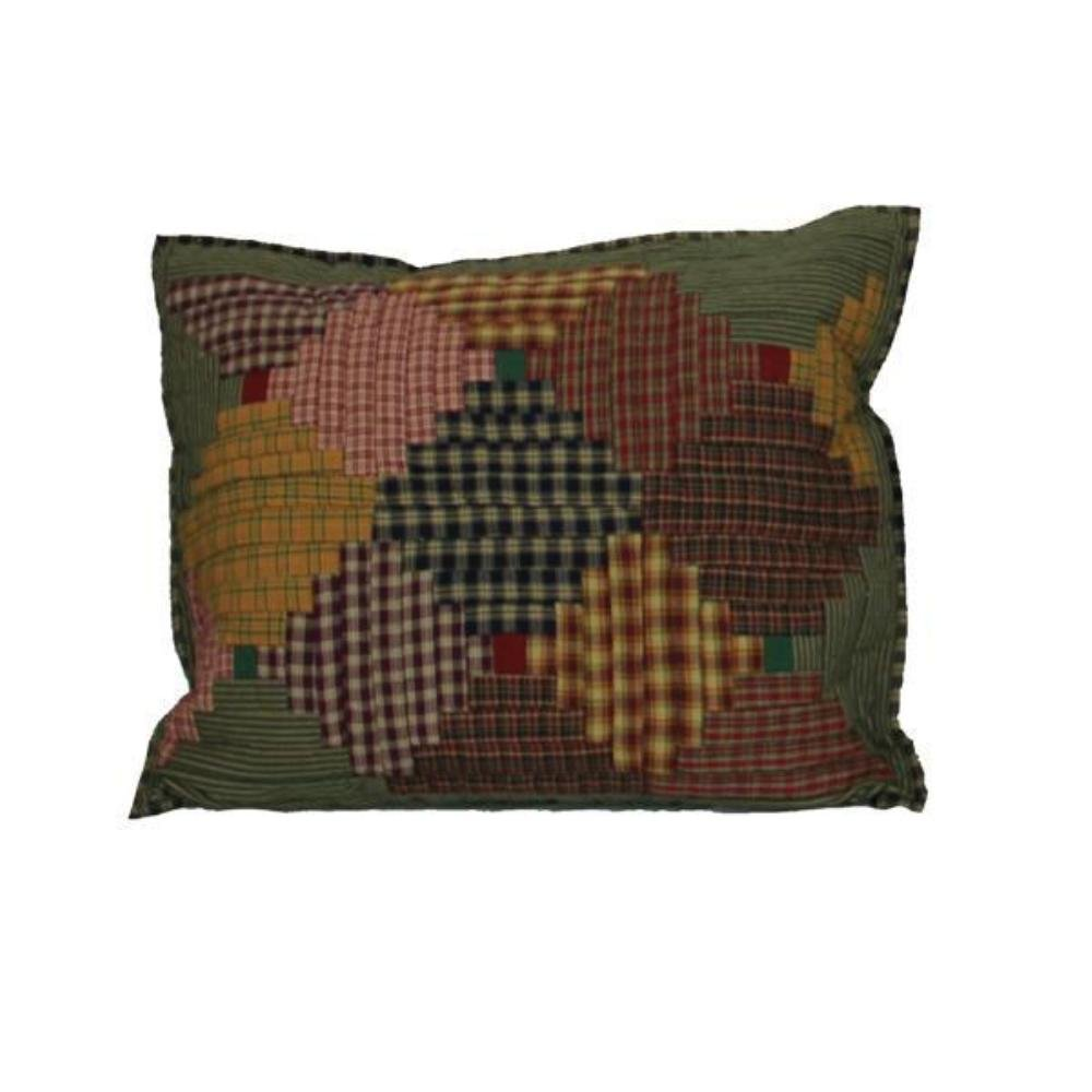 Patch Magic 27-Inch by 21-Inch Harvest Log Cabin Pillow Sham PSHLC