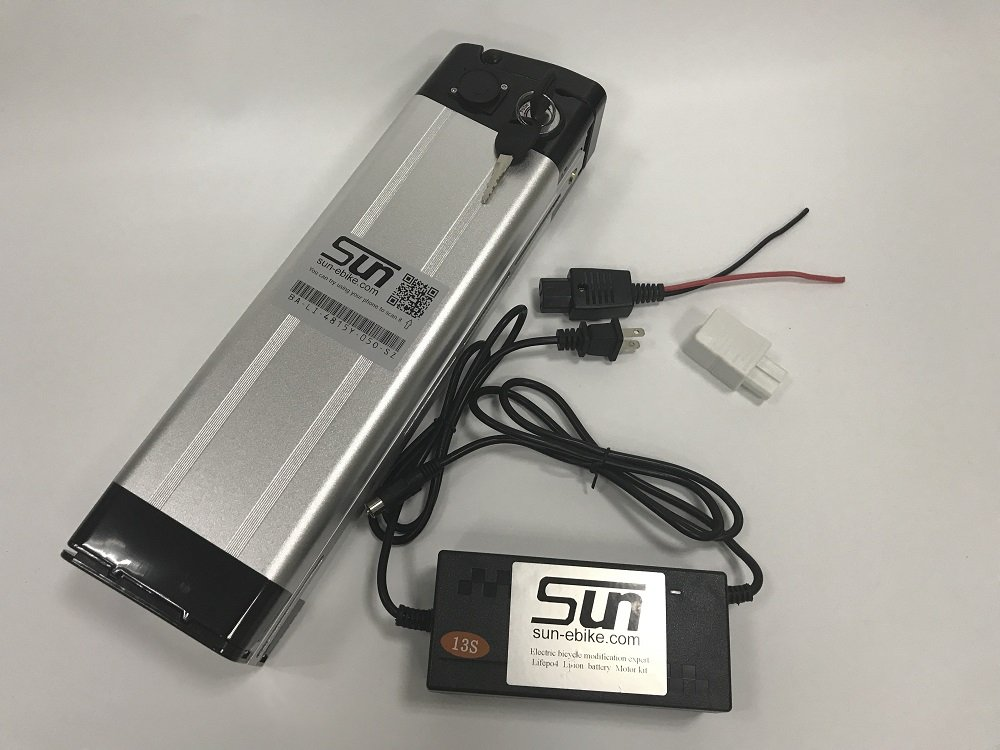 SUN-EBIKE 48V 15AH 18650 Li-ion Lithium Battery Aluminum Case BMS 3A Charger Rechargeable use for 500w 750w 1000w ebike bicycle Motorcyle Scooter