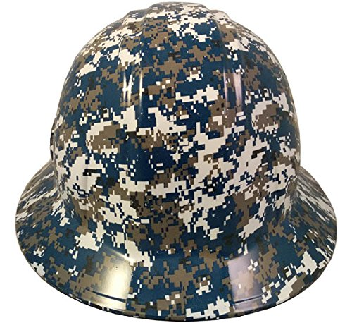Texas America Safety Company Navy Digital Camo Full Brim Style Hydro Dipped Hard Hat