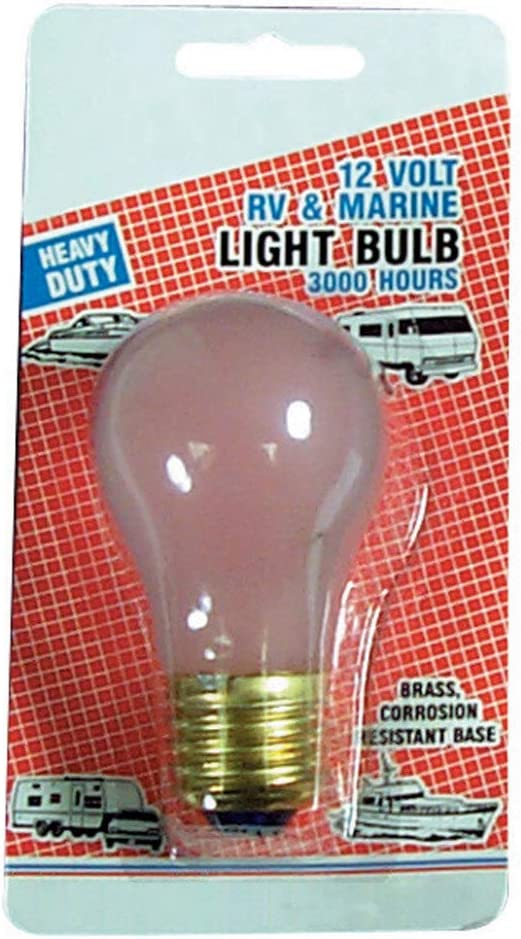 Camco 54894 A-19 50W//12V Home Replacement Light Bulb Pack of 2