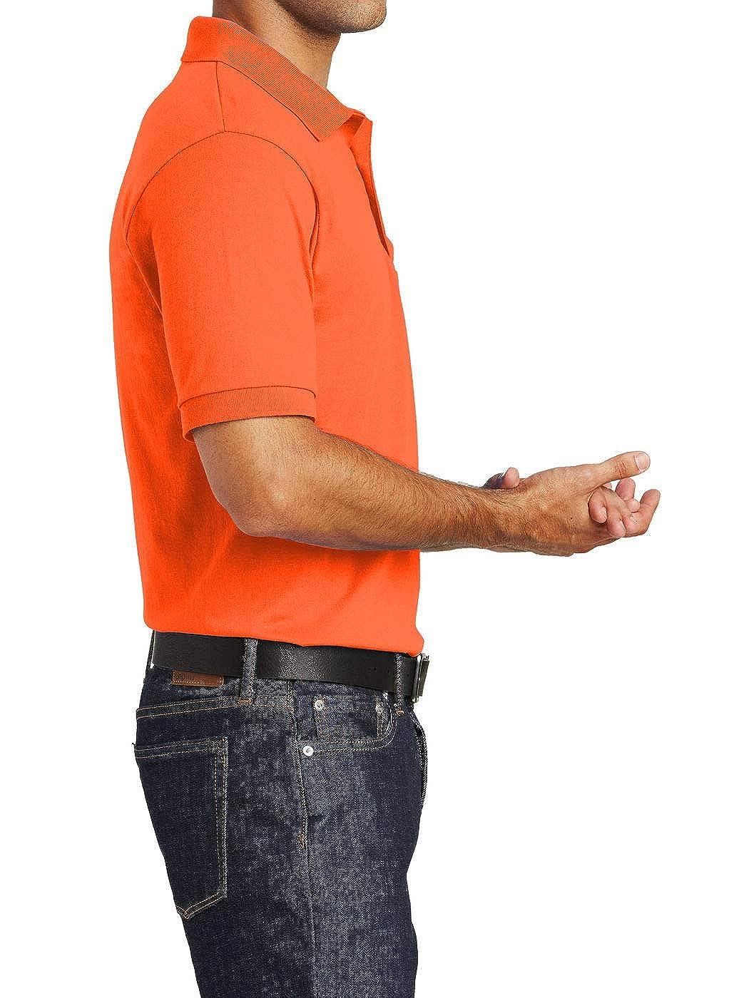 Mafoose Mens Core Blend Jersey Knit Pocket Polo Shirt