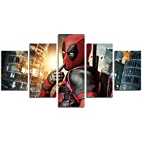 Leyruk 5 Piece Deadpool Decorazione Poster di Film (Senza Cornice) Senza Cornice HL39 La Scelta Perfetta per la Decorazione della casa e la Decorazione della Parete Size: 50 inch x30 inch