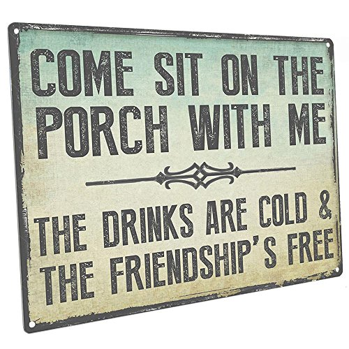 Come Sit on the Porch With Me Metal Sign, Outdoor Living (For Signs Decks Outdoor)