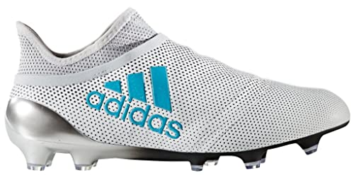 d6d00c57c Adidas Kids X 17+ Pure Speed FG White Energy Blue Clear Grey Shoes ...