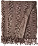 #10: Bourina Textured Solid Soft Sofa Throw Couch Cover Knitted Decorative Blanket, 50