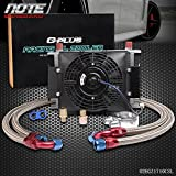 #8: 25 Row 10AN Universal Engine Transmission Oil Cooler + 7
