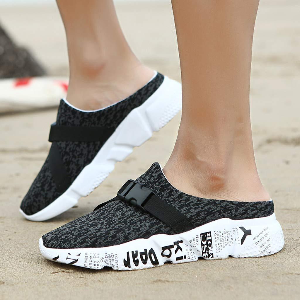 Amazon.com: Mens Breathable Sport Sandals,Sharemen Mesh Net Sandals Slippers Lightweight Walking Slip On Half Shoes Summer Beach Shoes: Clothing